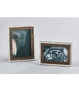 Wood with White Edge Photo Frame 5x7