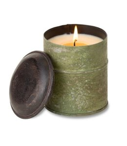 Himalayan Trading Sunlight Forest Spice Tin Green Candle