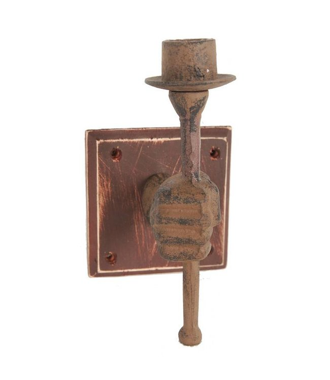 A & B Home Iron Candle Holder