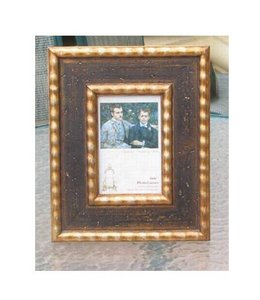 A & B Home Photo Frame Black/Gold 3x5