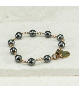 Grey Hematite Chain Bracelet