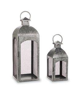 """Mud Pie Tin Lantern Small 16"""""""