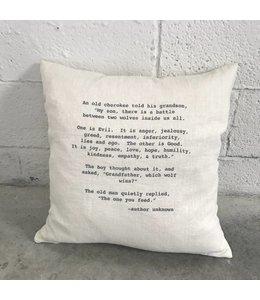 Stash Style Cherokee Pillow - White