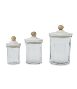 Mud Pie Glass Canister