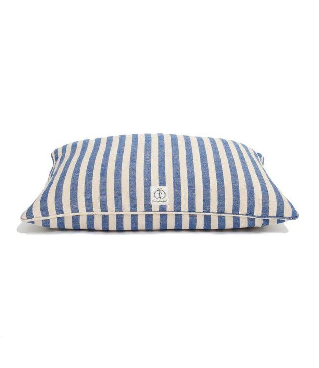 Harry Barker Vintage Stripe Envelope Dog Bed Small Blue
