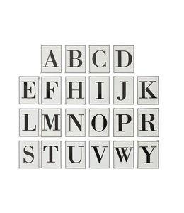 Creative Co-Op Metal Alphabet Wall Decor