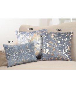 Foil Spattered Pillow Square - Navy Blue