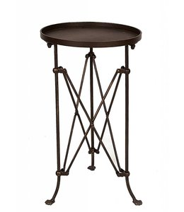"Creative Co-Op Bronze Metal Table Round 25"" x 14"""