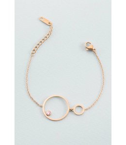 Lovoda Come Around Stone Bracelet (18K)