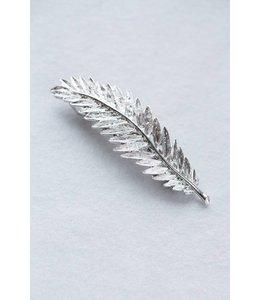 Lovoda Feather Barrette Silver