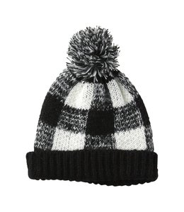 Black Holly Plaid Beanie Hat