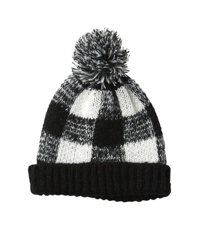 Black Holly Plaid Beanie Hat