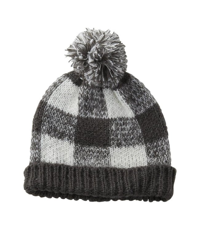 Gray Holly Plaid Beanie