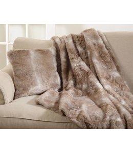 Faux Fur Throw Natural