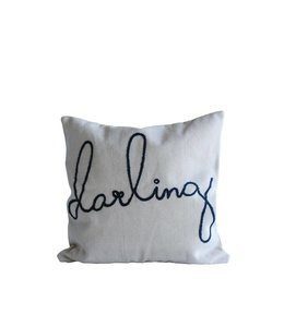 """Creative Co-Op Square Darling Pillow 26"""""""
