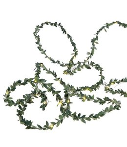 9' Boxwood String Light Garland