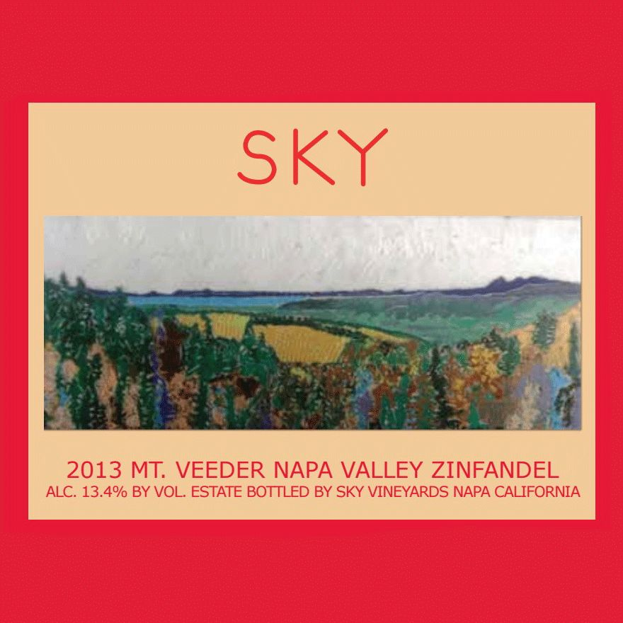 Wine Sky VIneyards Zinfandel Mt Veeder Napa Valley 2013
