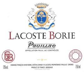 Wine Chateau Grand Puy Lacoste, Lacoste Borie Pauillac 2012