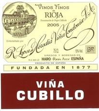 Wine Lopez de Heredia Rioja Vina Cubillo Crianza 2009