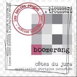 """Wine Domaine Les Bottes Rouges Cotes du Jura """"Boomerang"""" 2016"""