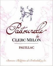 Wine Château Clerc Milon, Pastourelle de Clerc Milon Pauillac 2010 375 ML