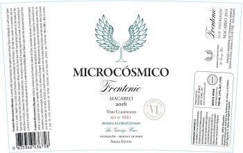Wine Bodegas Frontonio Microcosmico Macabeo 2016
