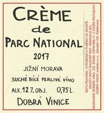 Sparkling Dobra Vinice Moravia 'Creme de Parc National' 2017
