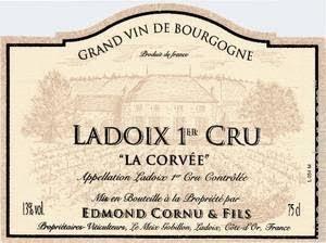 Wine Domaine Edmond Cornu & Fils Ladoix 'La Corvee' 2012