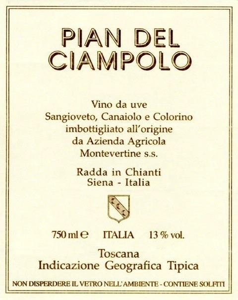 Wine Montevertine Pian del Ciampolo 2016