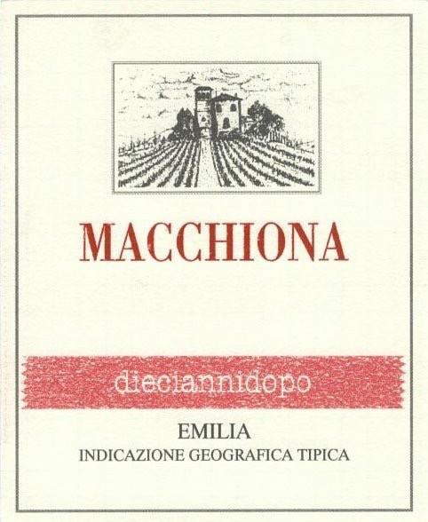 Wine La Stoppa 'Macchiona Dieciannidopo' 2002
