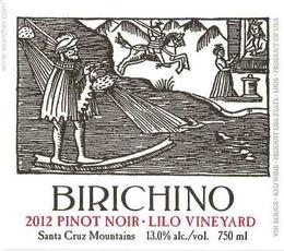 Wine Birichino Pinot Noir Lilo Vineyard Santa Cruz Mountains 2014