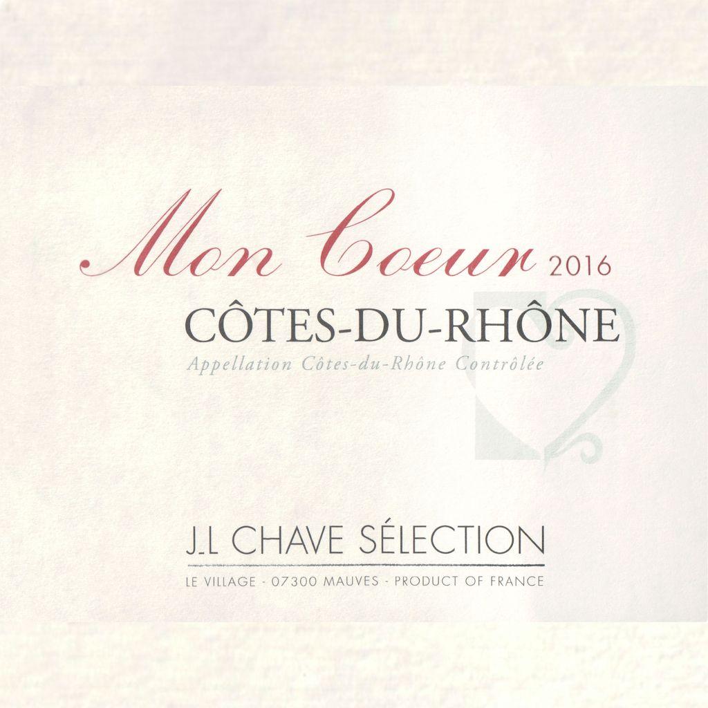 Wine Domaine Jean-Louis Chave Cotes du Rhone Mon Coeur 2017