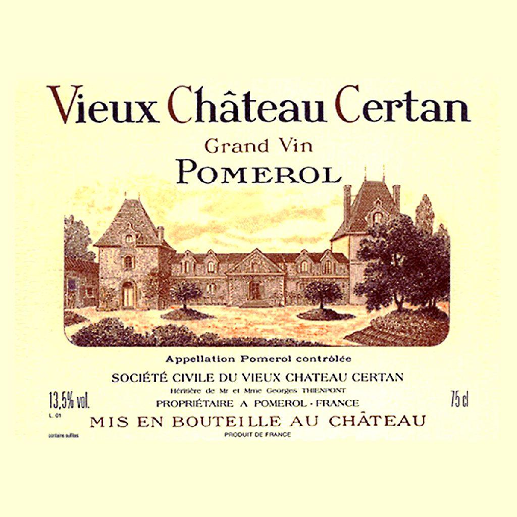Wine Vieux Chateau Certan 2014