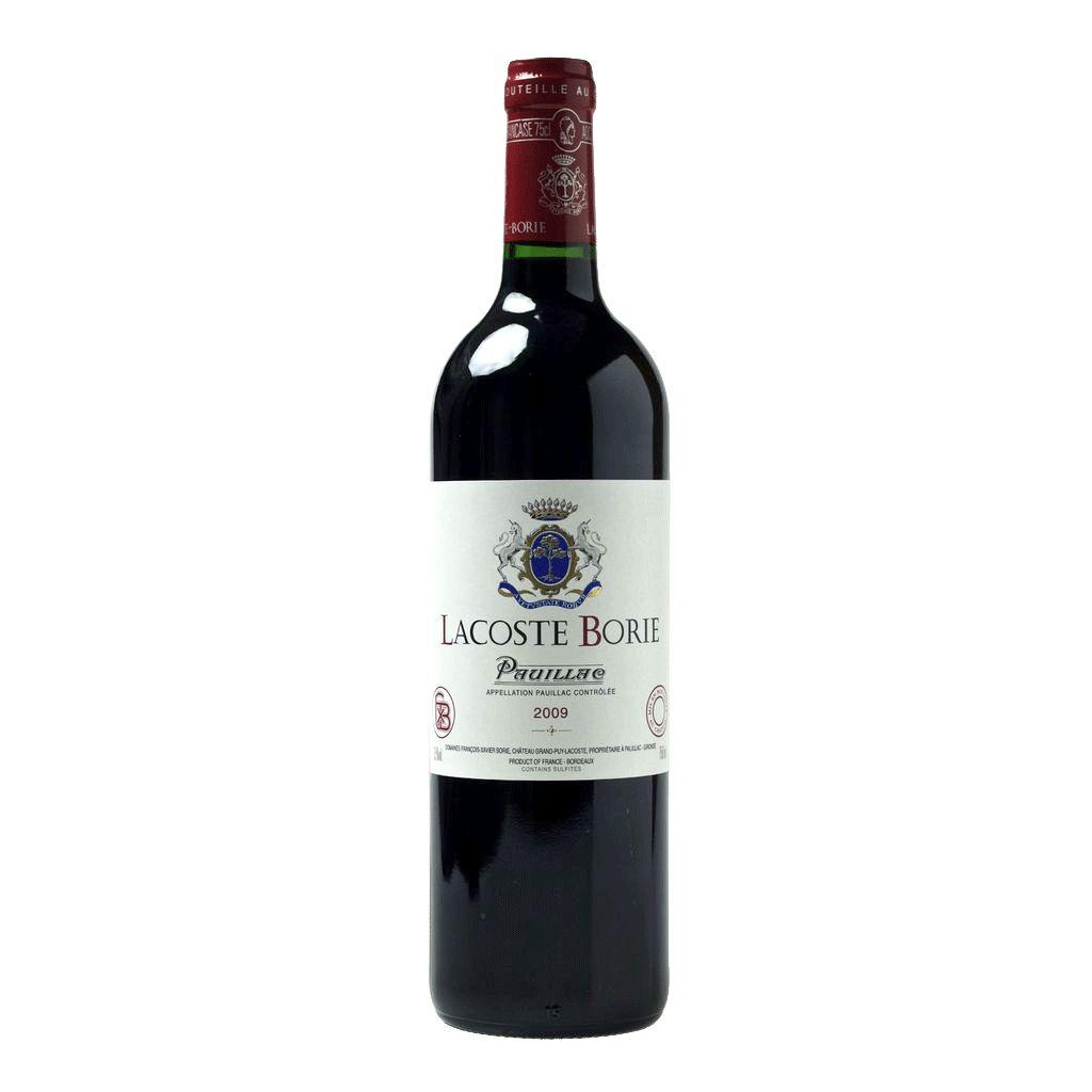 Wine Chateau Grand Puy Lacoste, Lacoste Borie Pauillac 2009 1.5L