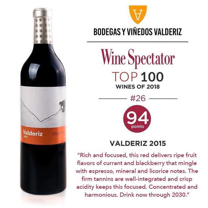 Wine Bodegas Y Vinedos Valderiz Ribera del Duero Tinto 2015