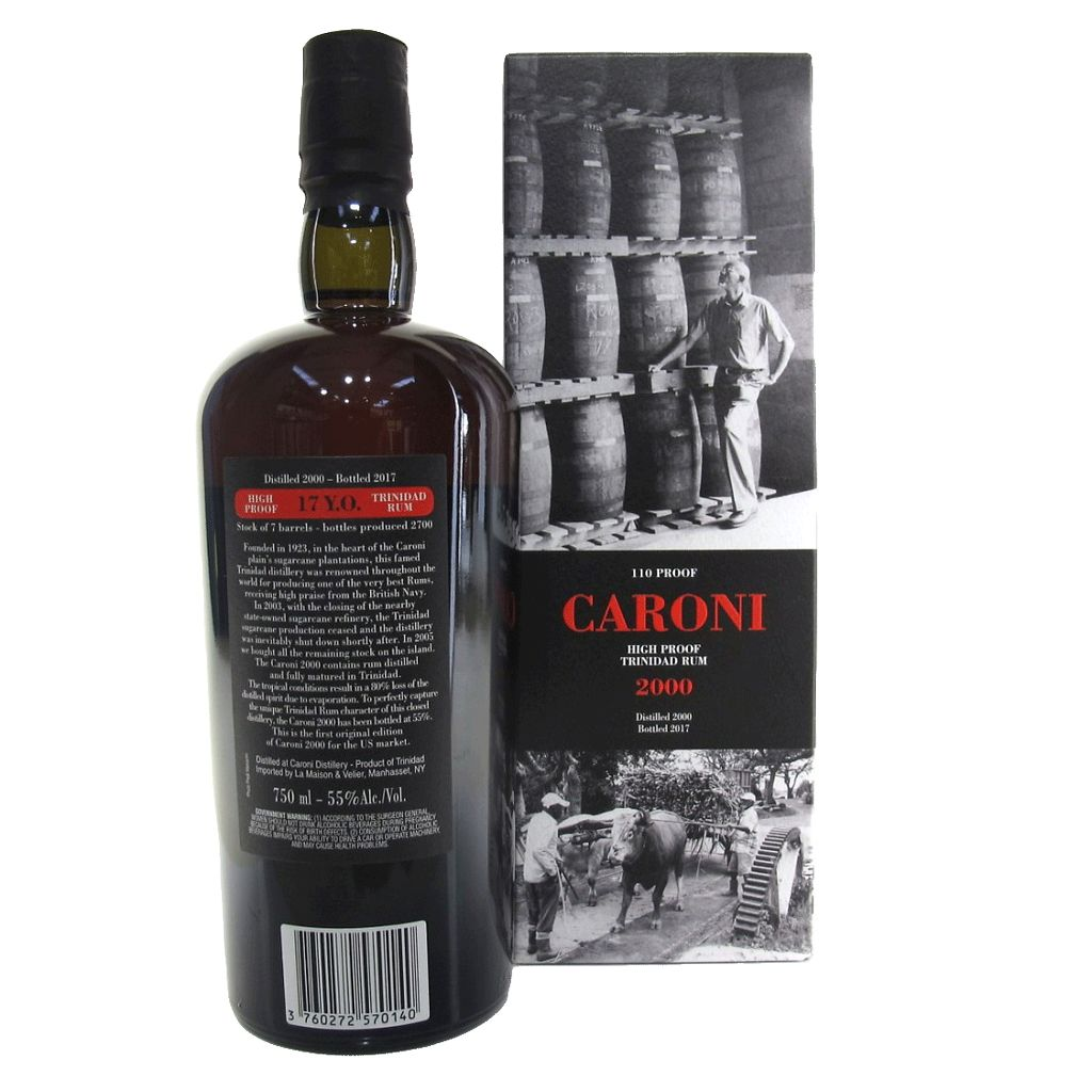Spirits Caroni High Proof Trinidad Rum 2000