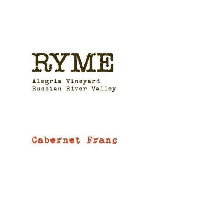 Wine Ryme Cellars Cabernet Franc Alegria Vineyard 2016