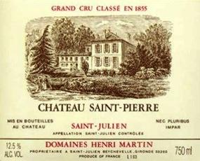 Wine Ch. Saint Pierre 2011