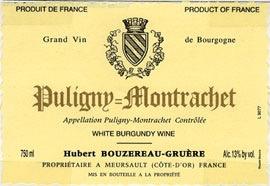 Wine Domaine Hubert Bouzereau Gruere & Filles Puligny Montrachet 2016