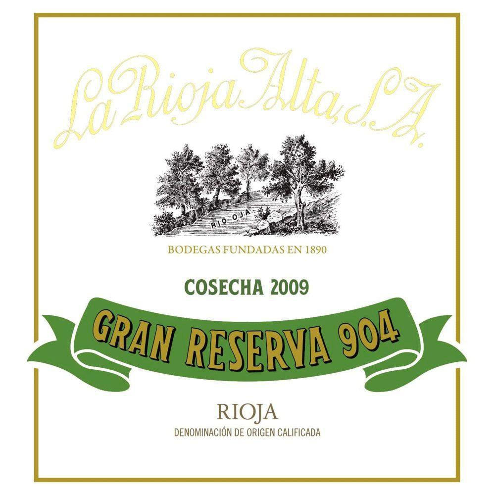 Wine La Rioja Alta Rioja Gran Reserva 904 2009