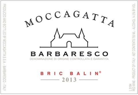 Wine Moccagatta Barbaresco Bric Balin 2013