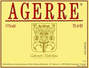 Wine Agerre Txakoli 2018