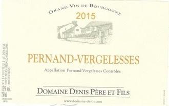 Wine Domaine Denis Pere et Fils Pernand Vergelesse Blanc 2015