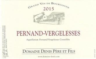 Wine Domaine Denis Pere et Fils Pernand Vergelesses Rouge 2015