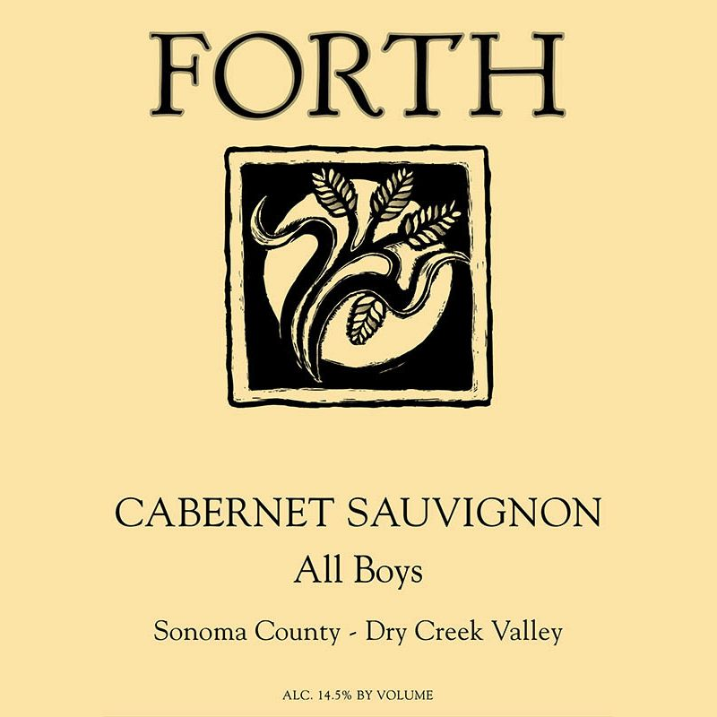 Wine Forth Vineyards, Cabernet Sauvignon 'All Boys' 2017