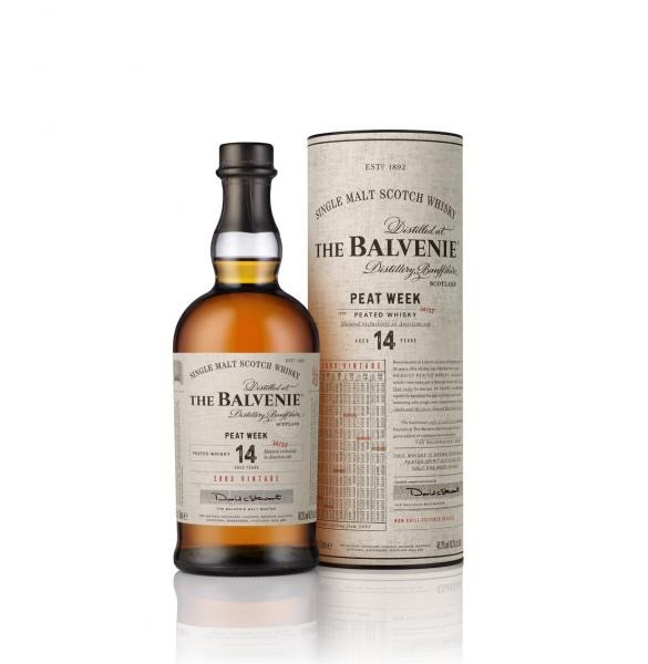 Spirits Balvenie Single Malt Scotch 14 Year Peat Week American Oak Non Chill Filtered 2003 Vintage