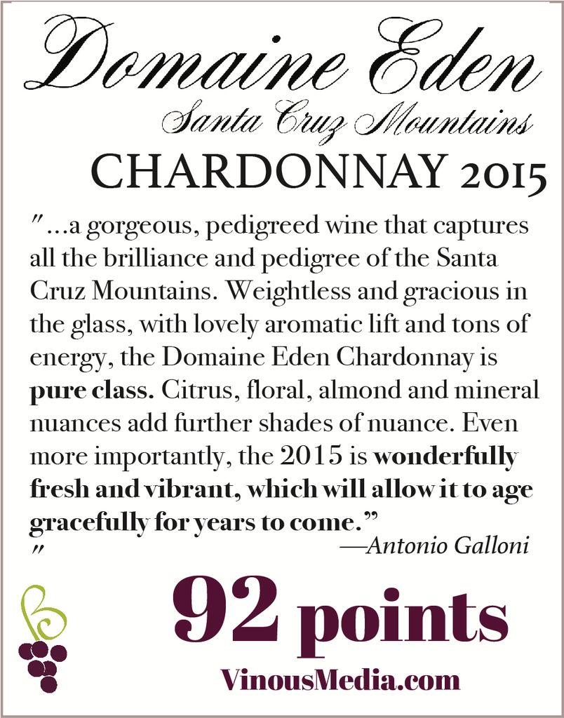 Wine Mount Eden Vineyards Chardonnay Domaine Eden 2015