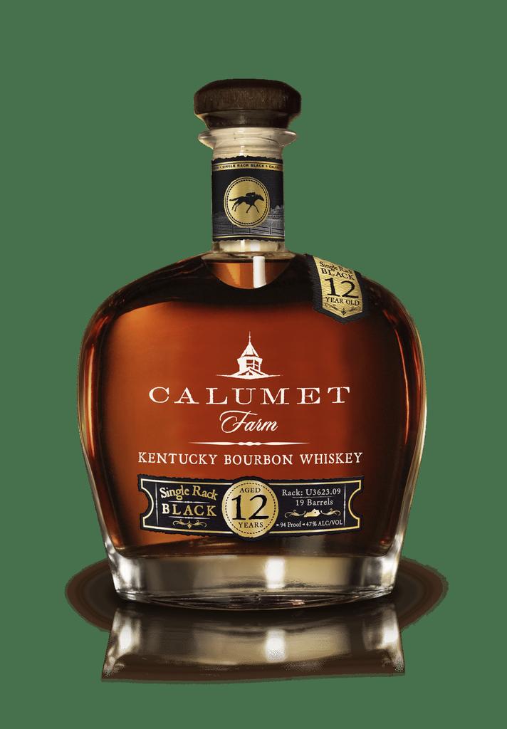 Spirits Calumet Farm Bourbon 12 Year Single Rack Black