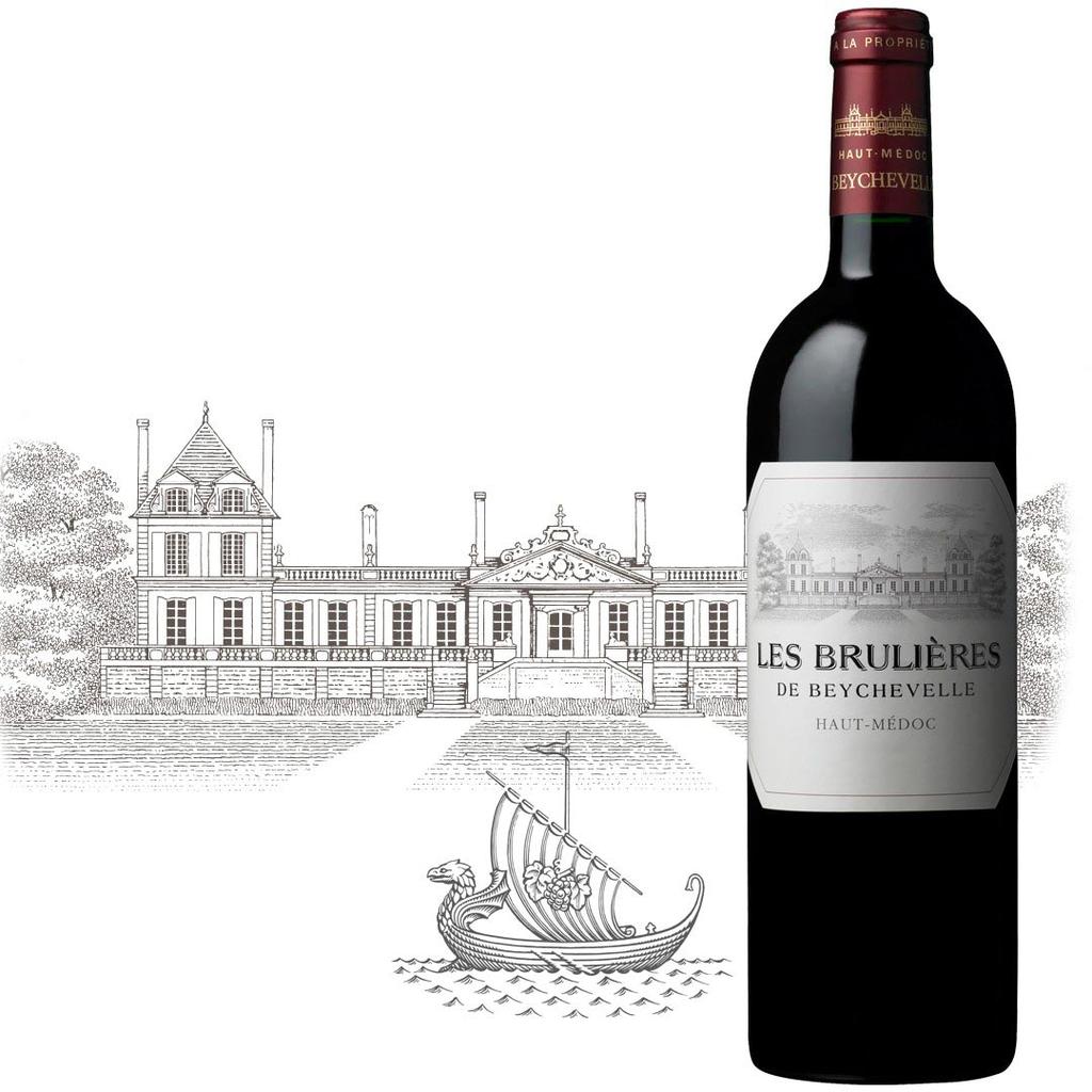 Wine Les Brulieres de Beychevelle 2015