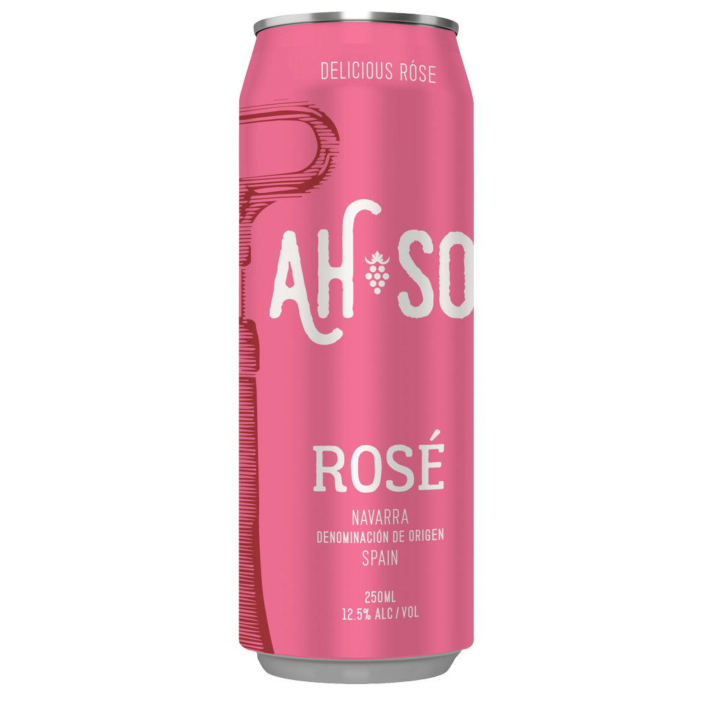 Wine Ah-So Navarra Rose 2018 Cans 250 ml
